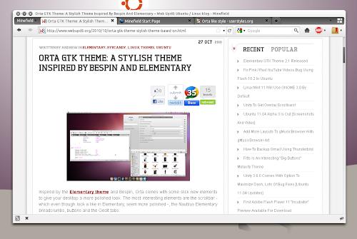Orta Firefox 4.0 style