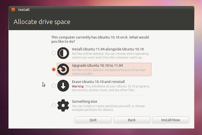 Ubuntu 11.04 upgrade using Live CD