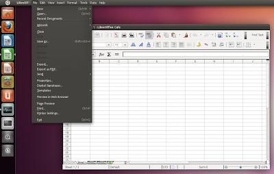 LibreOffice appmenu
