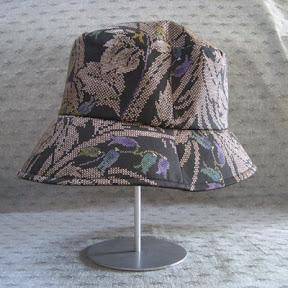 泥染大島紬 帽子(ハット型)