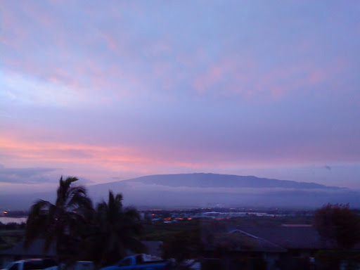 Unobstructed view of Haleakala at dawn
