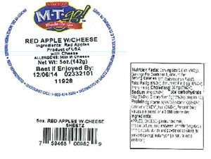 Label, Sheetz M-T-go Red Apple with Cheese, 5 oz.