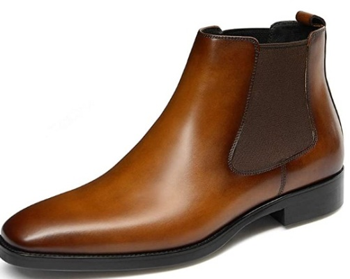 GIFENNSE Mens Chelsea Boots Leather Dress Boots