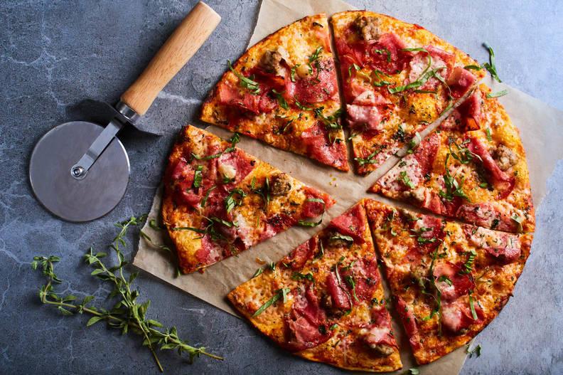 California-Style pizza