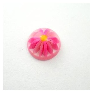 Vintage Lucite Pink Daisy Cabochon