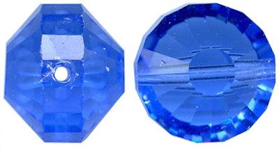 Sapphire Vintage Swarovski Flying Saucer Crystals
