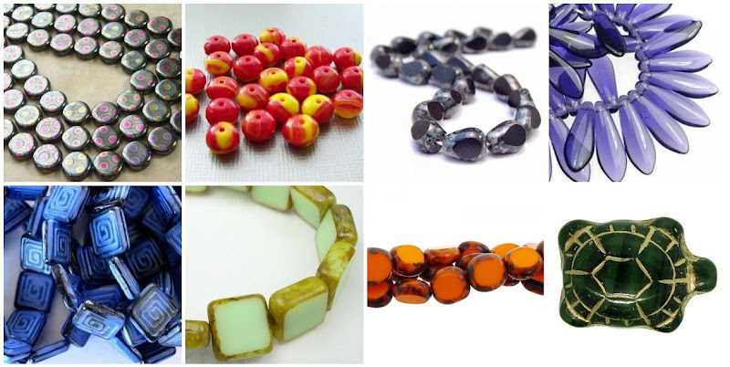 Assorted Fancy Czech Glass Beads