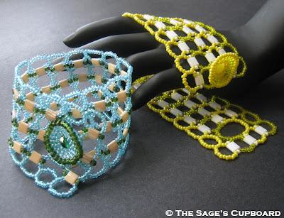 Right Angle Weave Tila Bracelets