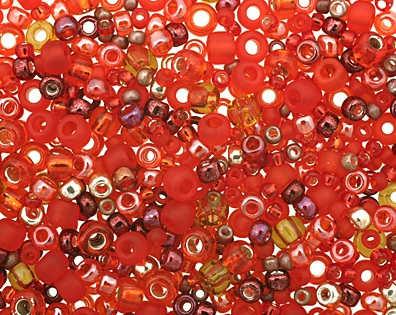 Momiji Red Seed Bead Mix from LimaBeads.com