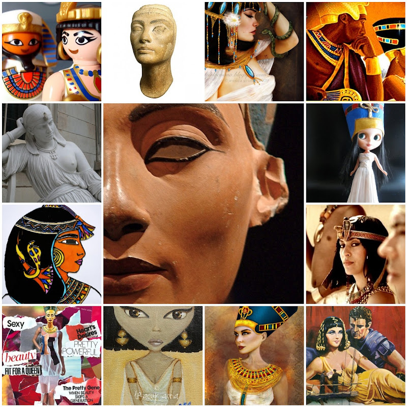 Nefertiti and Cleopatra Photo Collage