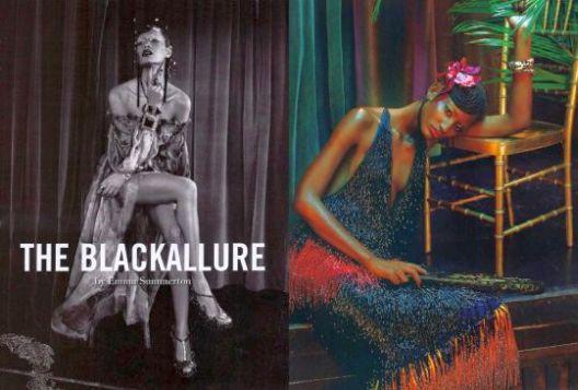 Editorial com modelos negras