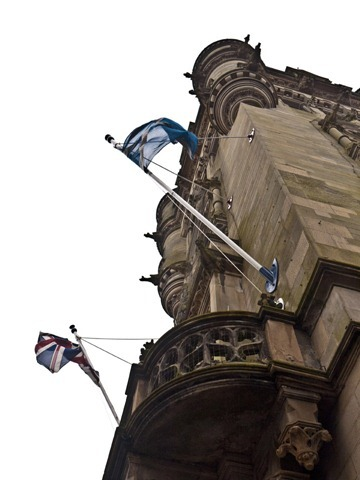 Dunfermline Town Hall - Flags