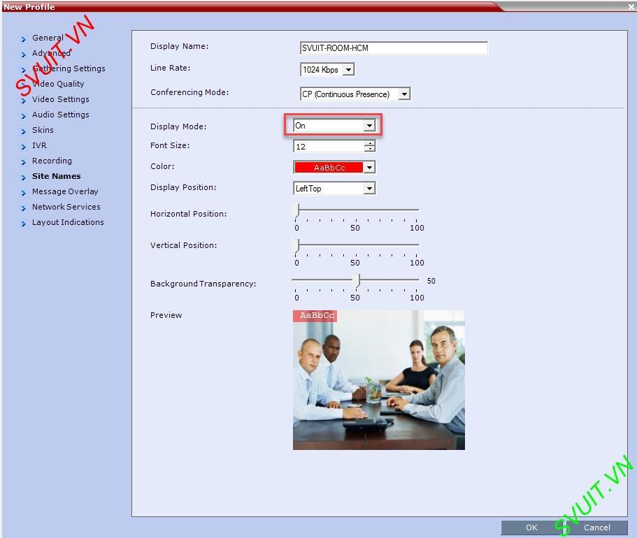 Create profiles on MCU Polycom RMX (10)
