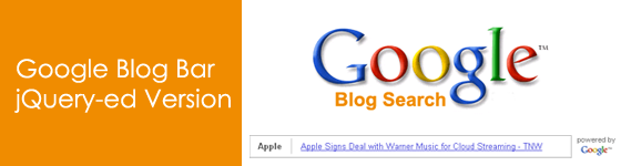 Google Blog Bar; jQuery-ed Version