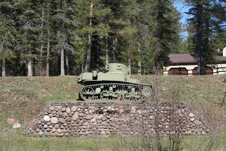 This is a photo of a tank located in the park located across from Ramsey School. At one time due to the wealth in the area the park also encompassed a pool, tennis courts, and other attractions for the community. This is yet another example of a community center and social environment, as well as Corporate Paternalism in terms of attraction to an area for mining workers.-Ashley Holloway