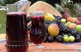 Chicha morada--a purple corn beverage and antioxidant gift from our Peruvian neighbors