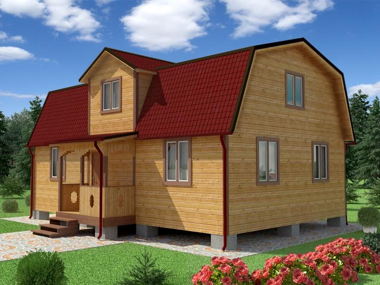 Чертежи и проекты дома с ломаной крышей: фото и планировка мансарды