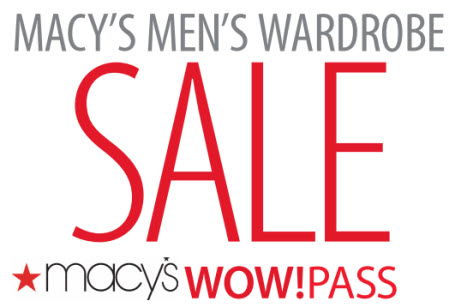 Macy's coupon code on Men's apparel and shoes