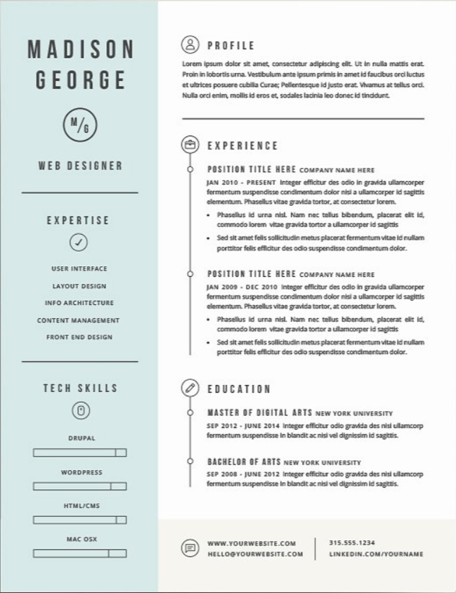 creating the perfect graphic design resume    examples