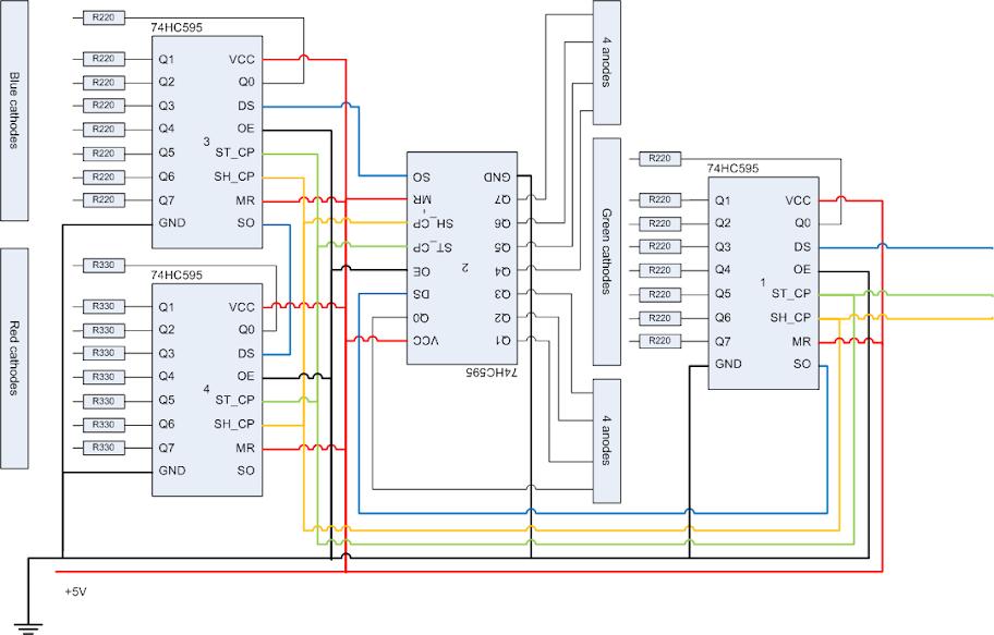 74hc595 Led Matrix Schematic - Wiring Diagram Database