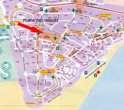 Playa Del Ingles Stadtplan Hotels