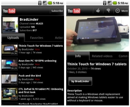 yuotube for android, free apps android, aplikasi gratis untuk android