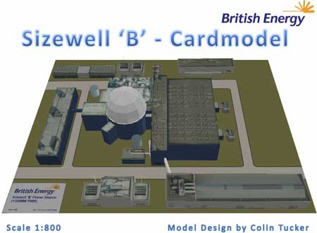 British Energy Sizewell B Power Station Papercraft