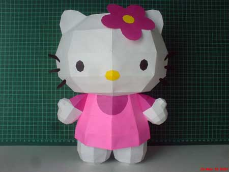 Pink Hello Kitty Papercraft