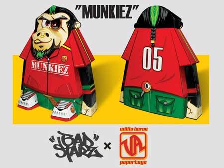 Badstarz Munkiez Paper Toy