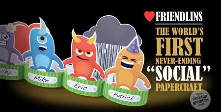 Desktop Gremlins Fiendlins Paper Toy