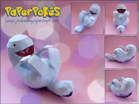 Pokemon Quagsire Papercraft