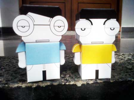 Bottlesmoker Paper Toy