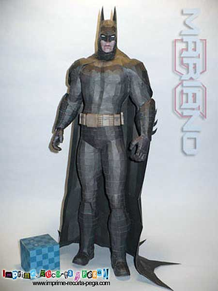 Batman Arkham Asylum Paper Model