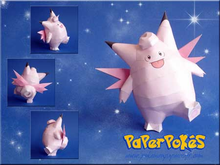 Pokemon Clefable Papercraft