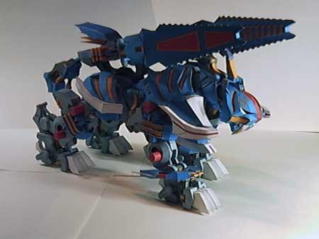 Zoids Papercraft Blitz Tiger
