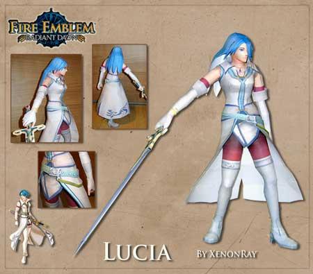 Fire Emblem Lucia Papercraft