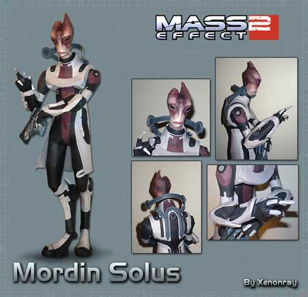 Mass Effect 2 Mordin Solus Papercraft