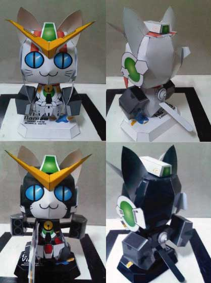 Anime Cat Gundam Virtue Nadleeh Papercraft