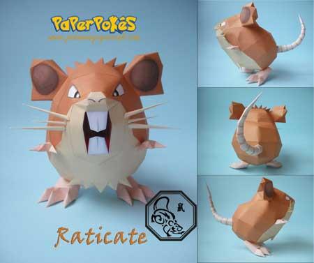 Pokemon Raticate Papercraft