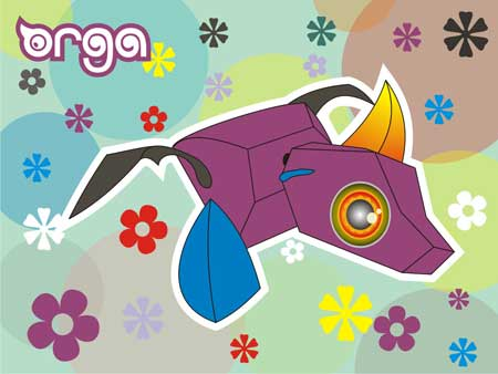 Orga Dragon Paper Toy