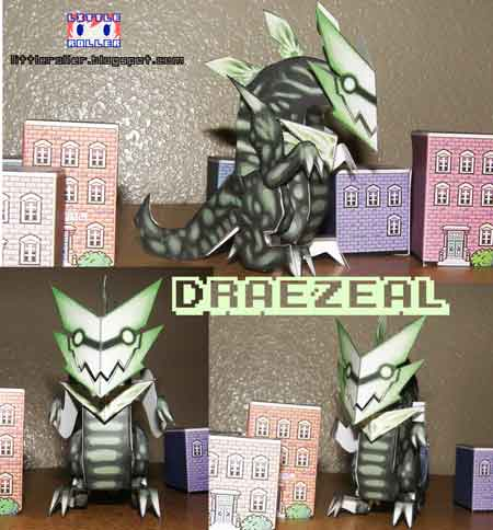 Kaiju Paper Toys Draezeal