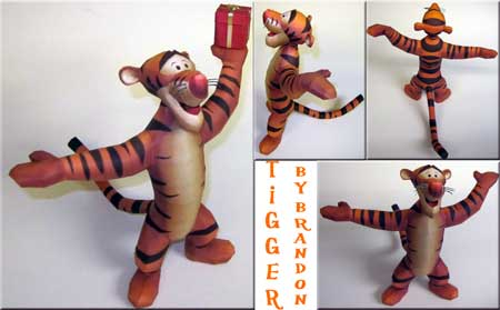 Tigger Papercraft