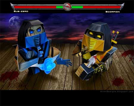 scorpion vs sub zero wallpaper. Scorpion vs Sub-Zero features