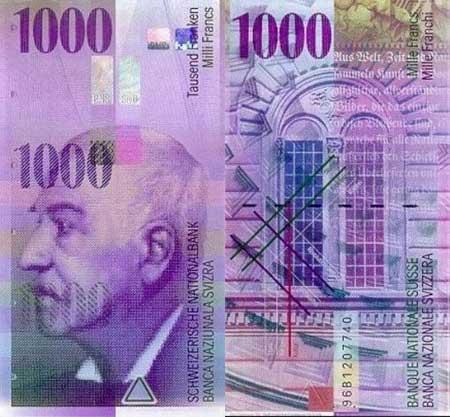 Swiss Banknote Papercraft