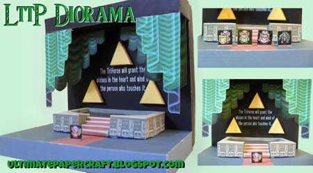 Legend of Zelda A Link to the Past Papercraft Diorama