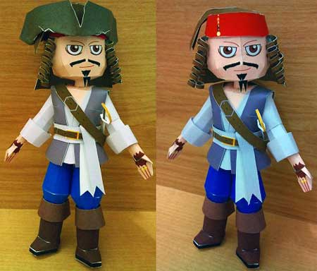 Pirates of the Caribbean Captain Jack Sparrow Papercraft