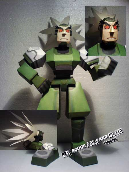 Mega Man Legends Teisel Bonne Papercraft