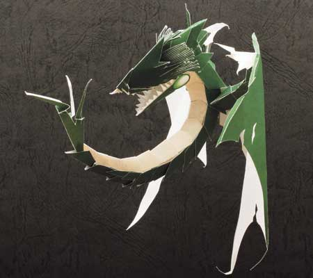 Green Wyvern Papercraft