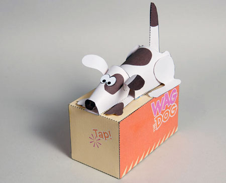 Wag the Dog Paper Toy