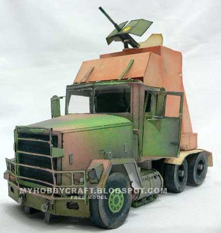 M915 Gun Truck Papercraft
